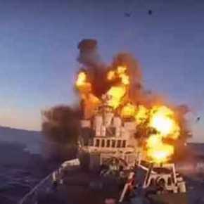 Σοκαριστικό βίντεο-ντοκουμέντο: Η στιγμή που ο πύραυλος χτυπάει και βυθίζει το ιρανικόπλοίο