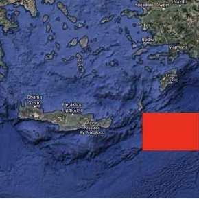 """Τουρκική NAVTEX ανατολικά της Κρήτης, εντός του """"τουρκολυβικούδιαδρόμου"""""""