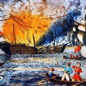 6 Ιουνίου 1822: ο Κανάρης πυρπολεί τη τουρκικήναυαρχίδα.