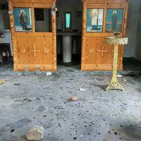 Άγρια Επίθεση από ΟΡΔΗ ΙΣΛΑΜΙΣΤΩΝ… Πετροβόλησαν την εκκλησία των Ταξιαρχών στην Μόρια…!!!ΦΩΤΟΓΡΑΦΙΕΣ