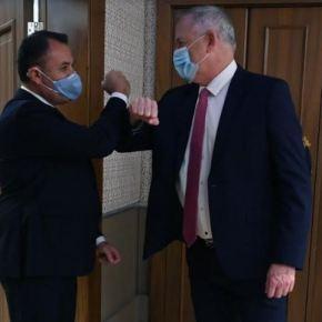 Συνάντηση ΥΕΘΑ Νικόλαου Παναγιωτόπουλου με τον Ισραηλινό ΥΠΑΜ Μπένυ Γκάτζ στο Πλαίσιο της Επίσκεψης τουΠρωθυπουργού
