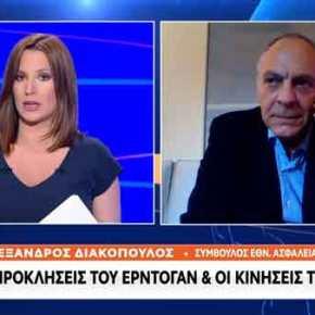 Αν χρειαστεί θα δράσουμε και στρατιωτικά, λέει ο Διακόπουλος: «Βλέπει» μείωση της τουρκικής προκλητικότητας[video]