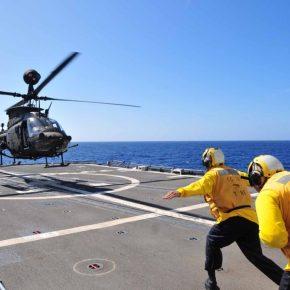 Επιχειρήσεις εξοπλισμένων ελικοπτέρων OH-58D Kiowa από τα αρματαγωγά τουΠΝ.
