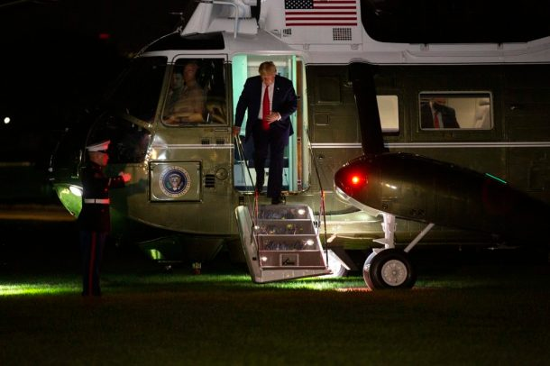 President Trump returns to the White House from Bedminster