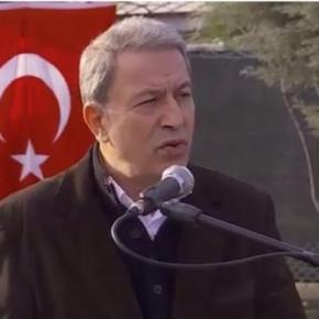 Ακάρ: θέλουμε ειρηνική επίλυση των διαφορών μας με την Ελλάδα.Παράλληλα όμως, ο Τούρκος υπουργός Άμυνας, επανέλαβε ότι η χώρα του δεν πρόκειται να απεμπολήσει τα δικαιώματά της στην ΑνατολικήΜεσόγειο.