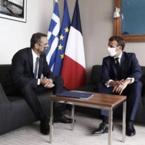 Τετ α τετ Μητσοτάκη-Μακρόν: Συνάντηση με το βλέμμα στραμμένο στην Α.Μεσόγειο