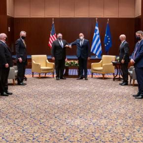 Κοινή δήλωση Ελλάδας – ΗΠΑ: Καμία καταδίκη της τουρκικής προκλητικότητας.Οι ΗΠΑ ήρθαν απλά για να πάρουν & να μας πιέσουν γιαδιάλογο