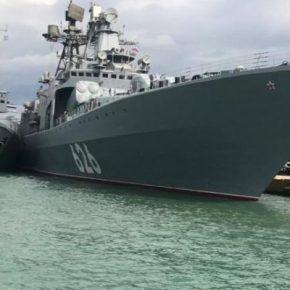"""ΡΩΣΙΚΟ ΝΑΥΤΙΚΟ: Το """"Υποναύαρχος Κουλάκοφ"""" στον Πειραιά(ΦΩΤΟ)"""