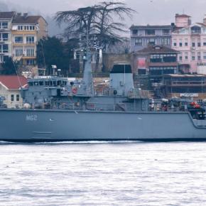 Ελληνικό ναρκαλιευτικό στα Δαρδανέλια αρνήθηκε να υψώσει την τουρκικήσημαία