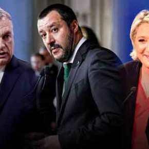 Ραγδαίες πολιτικές εξελίξεις στην ΕΕ: Β.Όρμπαν, Μ.Σαλβίνι και Μ.Λε Πεν ενώνουν τις δυνάμειςτους
