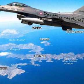 ΕΚΤΑΚΤΟ: Τουρκικά μαχητικά πετούν επάνω από ελληνικό έδαφος στο κεντρικό & ανατολικόΑιγαίο