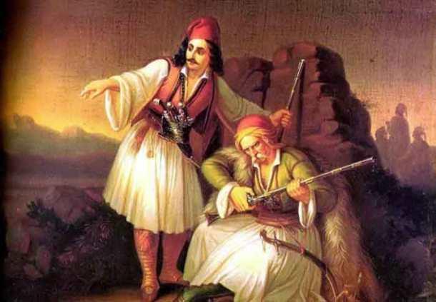 Βρυζάκης-Θεοδωρος-Δύο-πολεμιστές-ή-Καραούλι-1855-700x486