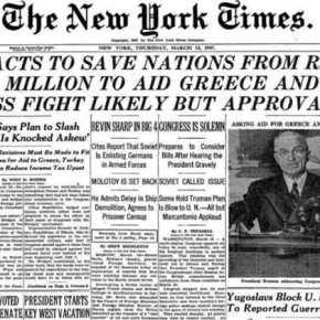 ΣΑΝ ΣΗΜΕΡΑ – 12 Μαρτίου 1947: Διακήρυξη του Δόγματος Τρούμαν, η αμερικανική βοήθεια στηνΕλλάδα