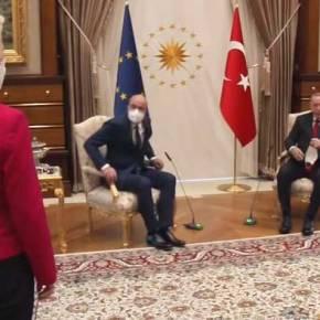 «Καψώνι» Ρ.Τ.Ερντογάν σε Φον ντερ Λάιεν: Την άφησε χωρίς καρέκλα – Έμεινε άναυδη(βίντεο)