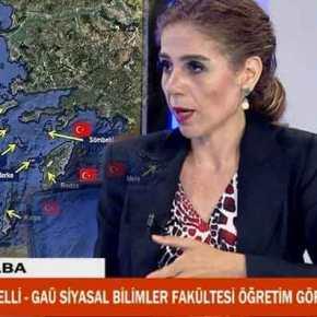 Εμετέ Γκιοζουγκιουζελί: Ανάρτηση με τουρκικές σημαίες σε ελληνικά νησιά(φώτο)