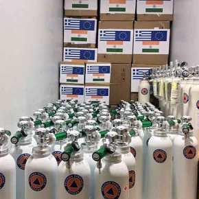 Η ινδική πρεσβεία ευχαριστεί την Ελλάδα για την αποστολήβοήθειας