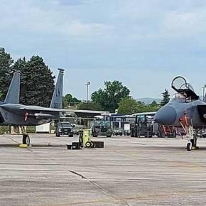 Λάρισα: Στην 110 ΠΜ αμερικανικά F-15 για συνεκπαίδευση με την ΠΑ(φώτο)