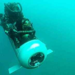 Επίδειξη Diver Propulsion Device (DPD) από Τούρκους SAT στα πλαίσια της άσκησης «Deniz Kurdu2021»