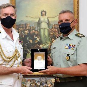 Φρεγάτες: Τετ-α-τετ Α/ΓΕΕΘΑ Φλώρου με τον Αρχηγό του Βρετανικού RoyalNavy