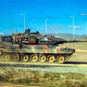"""Άσκηση """"Strike Back 21"""": Με Leopard 2HEL της XXV TΘT και Apache ο ΕΣ στηνΒουλγαρία"""