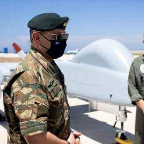Ο Α/ΓΕΕΘΑ στη Σκύρο απ΄ όπου επιχειρεί το πρώτο νοικιασμένο UAVHeron