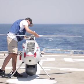 """ΒΙΝΤΕΟ: Οι δοκιμές του UAS Camcopter S-100 στη φρεγάτα""""ΑΙΓΑΙΟΝ"""""""
