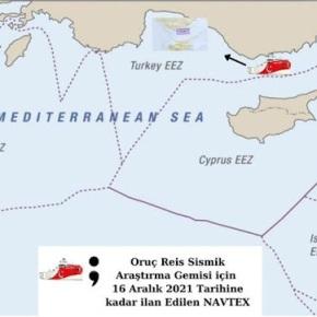 «Δεχτήκαμε τη θεωρία της Αθήνας, χάνουμε τη Γαλάζια Πατρίδα»- τούρκικοδημοσίευμα