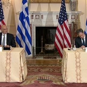 Υπογράφτηκε η συμφωνία με τις ΗΠΑ – Η Ελλάδα αντιμετωπίζει απειλεί πολέμου είπε ο Δένδιας – Το μήνυμαΜπλίνκεν